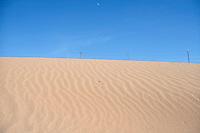 SAND DUNES<br /> Ripple Strata In Desert Dune<br /> Navajo Indian Reservation