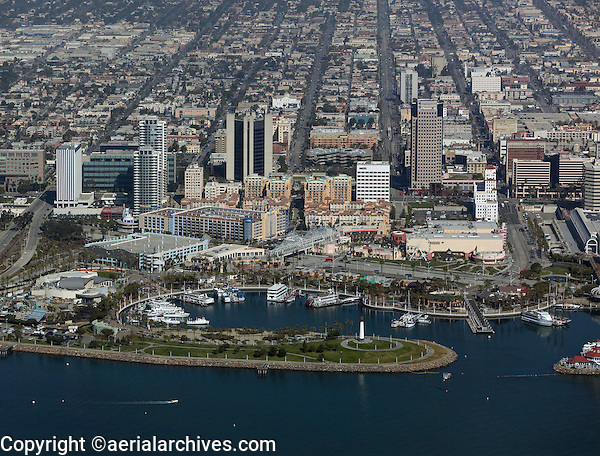 aerial photograph Long Beach, California