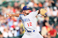 Peoria Chiefs Try McNutt during the Midwest League All Star Game at Parkview Field in Fort Wayne, IN. June 22, 2010. Photo By Chris Proctor/Four Seam Images