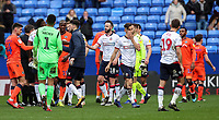 Players from both teams shake hands at the end of the match <br /> <br /> Photographer Andrew Kearns/CameraSport<br /> <br /> The EFL Sky Bet Championship - Bolton Wanderers v Millwall - Saturday 9th March 2019 - University of Bolton Stadium - Bolton <br /> <br /> World Copyright © 2019 CameraSport. All rights reserved. 43 Linden Ave. Countesthorpe. Leicester. England. LE8 5PG - Tel: +44 (0) 116 277 4147 - admin@camerasport.com - www.camerasport.com