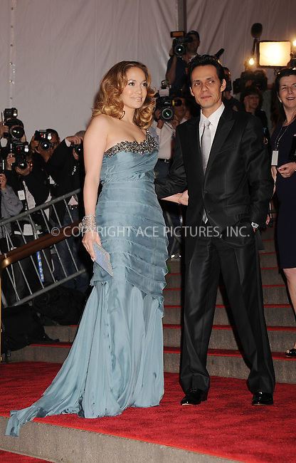WWW.ACEPIXS.COM . . . . . ....May 5 2008, New York City....Jennifer Lopez and Marc Anthony arriving at the Metropolitan Museum of Art Costume Institute Gala, Superheroes: Fashion and Fantasy, held at the Metropolitan Museum of Art on the Upper East Side of Manhattan.....Please byline: KRISTIN CALLAHAN - ACEPIXS.COM.. . . . . . ..Ace Pictures, Inc:  ..(646) 769 0430..e-mail: info@acepixs.com..web: http://www.acepixs.com