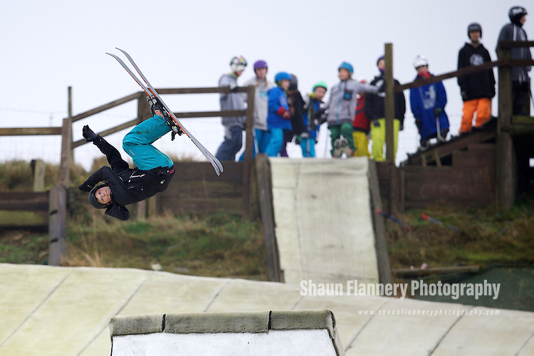 Pix: Shaun Flannery/shaunflanneryphotography.com<br /> <br /> COPYRIGHT PICTURE&gt;&gt;SHAUN FLANNERY&gt;01302-570814&gt;&gt;07778315553&gt;&gt;<br /> <br /> 16th November 2014<br /> British Freeski Camp<br /> Halifax Ski and Snowboard Centre<br /> Haydyn Fiori