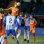 09.02.2019 Kilmarnock v Rangers: Joe Worrall heads wide from a corner