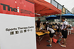 Set-up and branding at the HKFC Citi Soccer Sevens 2017 on 08 May 2017 at the Hong Kong Football Club, Hong Kong, China. Photo by Chris Wong / Power Sport Images