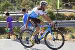 Alexis Gougeard (FRA) AG2R La Mondiale climbs Sierra de la Alfaguara during Stage 4 of the La Vuelta 2018, running 162km from Velez-Malaga to Alfacar, Sierra de la Alfaguara, Andalucia, Spain. 28th August 2018.<br /> Picture: Eoin Clarke   Cyclefile<br /> <br /> <br /> All photos usage must carry mandatory copyright credit (&copy; Cyclefile   Eoin Clarke)