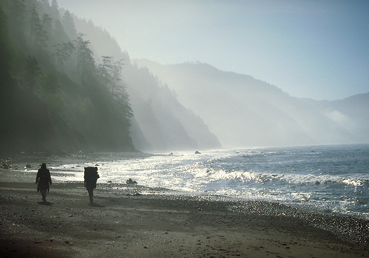 Back packing on the Lost Coast of Northern California.  CD scan from 35mm film. © John Birchard