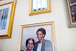 Karen Morris has been caring for her mother Gloria, 80, for the past 10 years. Her mother has Alzheimer's disease and lives with Karen and Karen's husband Richard in their Charlotte, NC home. A photo of the mother and daughter a decade ago. ..Mrs. Morris was a nurse before she retired and really enjoys taking care of people, she said. Every morning she washes her mother in the bathroom, helps her walk down the stairs, and they share breakfast, as they did Monday, October 18, 2010...Gloria was having an especially bad day and because Karen sees her every day, she knew something was wrong. She later discovered her medication was dehydrating her. That is one of many reasons why having a regular caretaker is so important. ...Kendrick Brinson.LUCEO.Model Released: Yes.AARP Contract #4859.Wichita/Bellovin Bulletin..