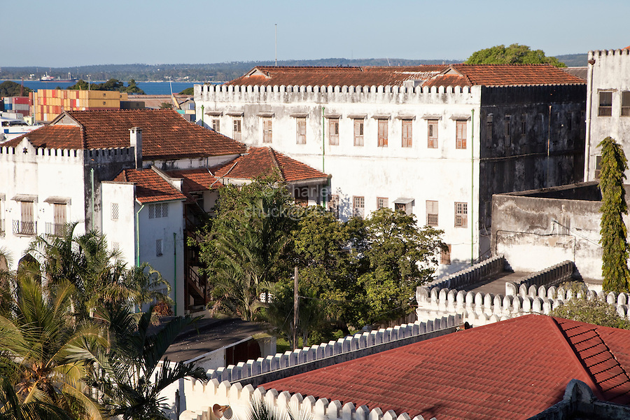 Zanzibar, Tanzania.  Former Sultan's Palace, now The Palace Museum.  Built 1890s.