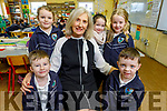 Susan Crean retiring from Glenderry NS after 40 years, with students from her class on Thursday.<br /> Kneeling Tadgh Carroll and Darren Gaynor.<br /> Back l to r: Isabelle Casey, Shona McPhee, Sophie Lehane.