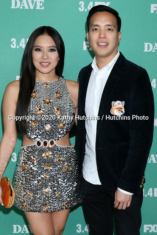 """LOS ANGELES - FEB 27:  Christine Ko, Alan Yang at the """"Dave"""" Premiere Screening from FXX at the DGA Theater on February 27, 2020 in Los Angeles, CA"""