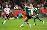 Alexandra Popp (r) of team Germany and Faith Ikidi of team Nigeria during the FIFA Women's World Cup at the FIFA Stadium in Frankfurt, Germany on June 30th, 2011.