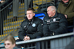 St Johnstone v Dundee.....02.01.13      SPL.Steve Lomas watches the game from the stands with Atholl Henderson.Picture by Graeme Hart..Copyright Perthshire Picture Agency.Tel: 01738 623350  Mobile: 07990 594431