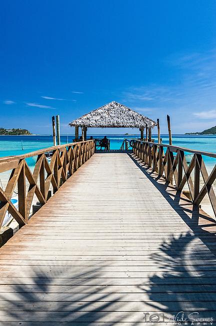 Jetty on Malolo Island, location of Tropica Island Resort (previously Walu Beach Resort) in the Mamanuca Islands, Fiji