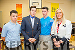 l-r  Robert Coffey, Blake O'Gorman and Robin McCarthy pictured with their Principal Grace Sheehan who have just Graduated in City and Guilds in painting and decorating part one attended St Joseph's and St Ita's School,Tralee and are now qualified painters and decorators