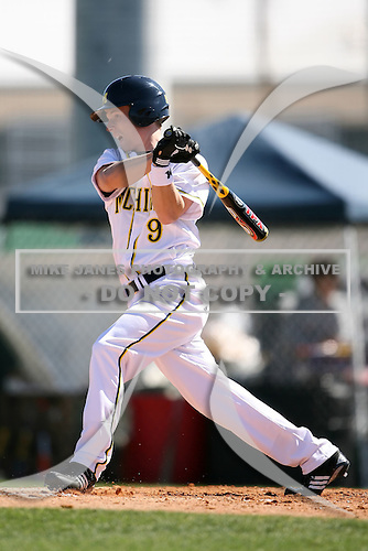 February 20, 2009:  Outfielder Nick Urban (9) of the University of Michigan during the Big East-Big Ten Challenge at Jack Russell Stadium in Clearwater, FL.  Photo by:  Mike Janes/Four Seam Images