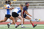 Redondo Beach, CA 05/14/11 - Molly Wang (St Margaret #13) and unidentified Cate player in action during the 2011 Division 2 US Lacrosse / CIF Southern Section Championship game between Cate School and St Margaret.