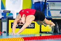 Picture by Alex Whitehead/SWpix.com - 10/04/2018 - Commonwealth Games - Swimming - Optus Aquatics Centre, Gold Coast, Australia - Georgia Davies of Wales wins Bronze in the Women's 50m Backstroke final.