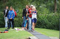 FIERLJEPPEN: GRIJPSKERK: Fierljepaccomodatie 'De Enk', 16-08-2014, ROC Friese Poort competitie 2014, ©foto Martin de Jong