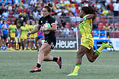 3rd February 2019, Spotless Stadium, Sydney, Australia; HSBC Sydney Rugby Sevens; New Zealand versus Australia; Womens Final; Niall Williams of New Zealand is chased down by Ellia Green of Australia