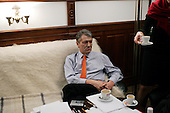 KIEV, UKRAINE - December 29, 2004: Viktor Yushchenko in one of his Kiev offices. Election polls show him as a clear winner  in the presidential race.