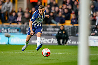 7th March 2020; Molineux Stadium, Wolverhampton, West Midlands, England; English Premier League, Wolverhampton Wanderers versus Brighton and Hove Albion; Leandro Trossard of Brighton & Hove Albion hits a pass across the face of goal