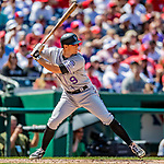 14 April 2018: Colorado Rockies second baseman DJ LeMahieu in action against the Washington Nationals at Nationals Park in Washington, DC. The Nationals rallied to defeat the Rockies 6-2 in the 3rd game of their 4-game series. Mandatory Credit: Ed Wolfstein Photo *** RAW (NEF) Image File Available ***