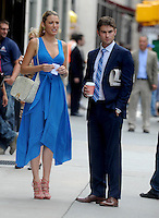 "Blake Lively & Chace Crawford filming ""Gossip Girl"" - New York"
