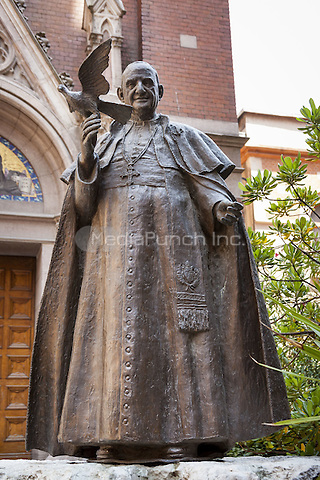 Statue of Pope John 23rd at Saint Anthony of Padua Roman Catholic Church, Beyoglu, Istanbul, Turkey  May 2015.<br /> CAP/MEL<br /> &copy;MEL/Capital Pictures /MediaPunch ***NORTH AND SOUTH AMERICA ONLY***