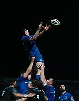 28th February 2020; RDS Arena, Dublin, Leinster, Ireland; Guinness Pro 14 Rugby, Leinster versus Glasgow; Ryan Baird (Leinster) gathers the lineout ball