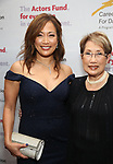 Carrie Ann Inaba with her mother attend the Career Transition for Dancers on November 1, 2017 at The Marriott Marquis in New York City.