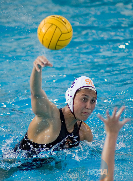 11 MAY 2008:  USC's Michelle Stein shoots for a goal during the Division I Women's Water Polo Championship held at the Avery Aquatic Center on the Stanford University Campus in Palo Alto, CA. UCLA beat USC with a score of 6-3. Don Feria/NCAA Photos.