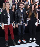 """WESTWOOD, LOS ANGELES, CA, USA - MARCH 18: Matthew Koma, Zedd, Miriam Bryant at the World Premiere Of Summit Entertainment's """"Divergent"""" held at the Regency Bruin Theatre on March 18, 2014 in Westwood, Los Angeles, California, United States. (Photo by Xavier Collin/Celebrity Monitor)"""