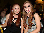 Ellen Butterly and Niamh Devlin pictured at St Annes Camogie Club annual dinner in the Grove Hotel Dunleer. Photo:Colin Bell/pressphotos.ie