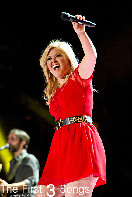 Kelly Clarkson performs at LP Field during Day 3 of the 2013 CMA Music Festival in Nashville, Tennessee.