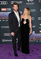 "LOS ANGELES, USA. April 22, 2019: Miley Cyrus & Liam Hemsworth at the world premiere of Marvel Studios' ""Avengers: Endgame"".<br /> Picture: Paul Smith/Featureflash"
