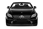 Car photography straight front view of a 2019 Mercedes Benz C-Class AMG-Line 2 Door Convertible Front View