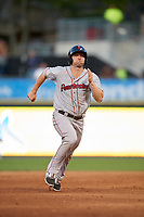 Pawtucket Red Sox designated hitter Sam Travis (15) running the bases during a game against the Scranton/Wilkes-Barre RailRiders on May 15, 2017 at PNC Field in Moosic, Pennsylvania.  Scranton defeated Pawtucket 8-4.  (Mike Janes/Four Seam Images)