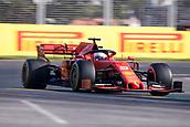17th March 2019, Melbourne Grand Prix Circuit, Melbourne, Australia; Melbourne Formula One Grand Prix, race day; The number 5 Scuderia Ferrari driver Sebastian Vettel during the race