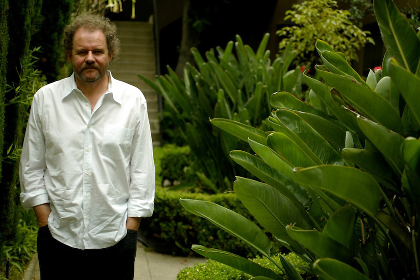 """British Director Mike Figgis at his Los Angeles Home. He did the movie """"Leaving Las Vegas,"""" and has a new film coming out about Vampires at a Hotel. Also, he has a mainstream movie in the works for Disney."""