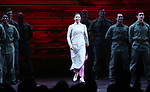 "Eva Noblezada during The Opening Night Curtain Call Bows for the New Broadway Production of ""Miss Saigon"" at the Broadway Theatre on March 23, 2017 in New York City"
