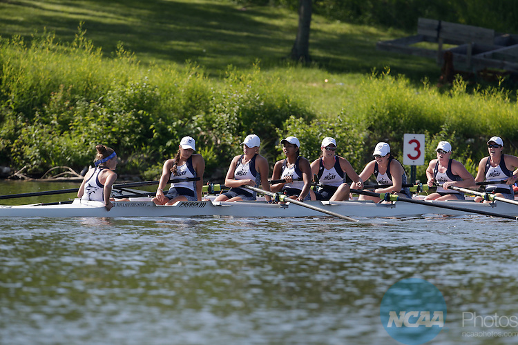 01 JUNE 2014: Nova Southeastern competes in the Eights Grand Final during the Division II Rowing Championships held at the Indianapolis Rowing Center at Eagle Creek in Indianapolis, IN. Humboldt State won the team national title.  AJ Mast/NCAA Photos