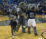 Nevada mascots before their NCAA college basketball game against California Baptist in the  of an  in Reno, Nev., Monday, Nov. 19, 2018. (AP Photo/Tom R. Smedes)
