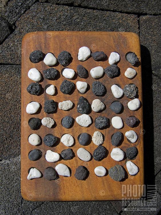 Ancient Hawaiian game called konane