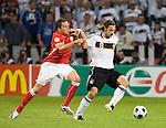Torsten Frings, Dariusz Dudka, Euro 2008. Germany-Poland in Klagenfurt (Austria) 06082008.