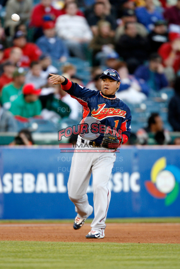 of Japan during World Baseball Championship at Angel Stadium in Anaheim,California on March 14, 2006. Photo by Larry Goren/Four Seam Images