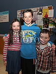 Eva, Leon and Ellis Hart at Bake and Play in the Barbican.<br /> <br /> Photo: Jenny Matthews