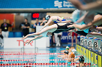 Picture By Allan Mckenzie/SWpix.com - 28/10/2017 - Swimming - Swim England Masters National Champs - Ponds Forge International Sports Centre, Sheffield, England - Nicole Mackenzie prepares to dive in.