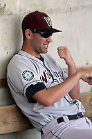 August 17 2008:  Pitcher Brett Lorin of the Wisconsin Timber Rattlers, Class-A affiliate of the Seattle Mariners, during a game at Philip B. Elfstrom Stadium in Geneva, IL.  Photo by:  Mike Janes/Four Seam Images
