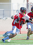 Palos Verdes, CA 03/26/16 - Sander Lush (San Clemente #8) in action during the CIF Boys Lacrosse game between San Clemente Tritons and the Palos Verdes Seakings at Palos Verdes High School.  Palos Verdes defeated San Clemente 11-6