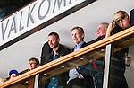 Stockholm 2014-09-27 Ishockey Hockeyallsvenskan AIK - Mora IK :  <br /> AIK:s tr&auml;nare Peter Gradin p&aring; VIP-avdelningen innan matchen mellan AIK och Mora <br /> (Foto: Kenta J&ouml;nsson) Nyckelord:  AIK Gnaget Hockeyallsvenskan Allsvenskan Hovet Johanneshovs Isstadion Mora MIK  portr&auml;tt portrait tr&auml;nare manager coach skada skadan ont sm&auml;rta injury pain